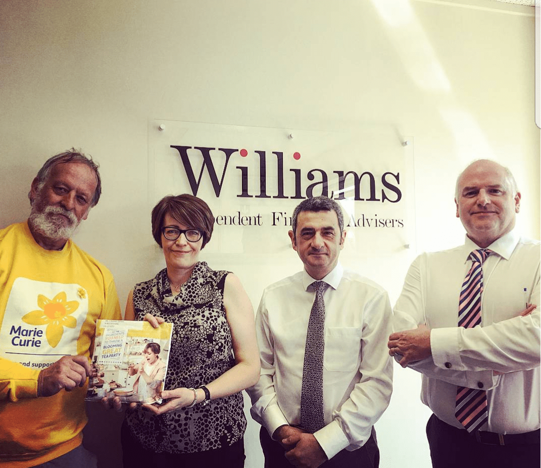Williams Financial team with Marie Curie for charity