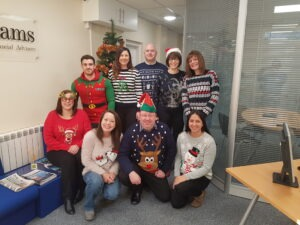 Team Williams dressed in Christmas Jumpers